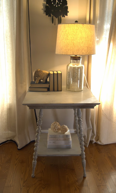 Side Table Painted With Chalk Finish Paint