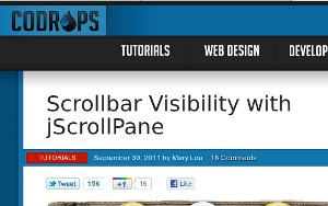 5. Scrollbar Visibility with jScrollPane