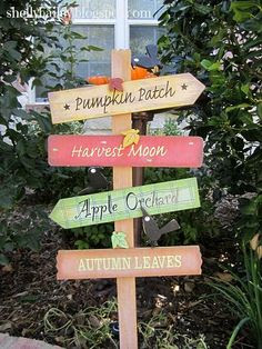 diy wooden fall orchard signs