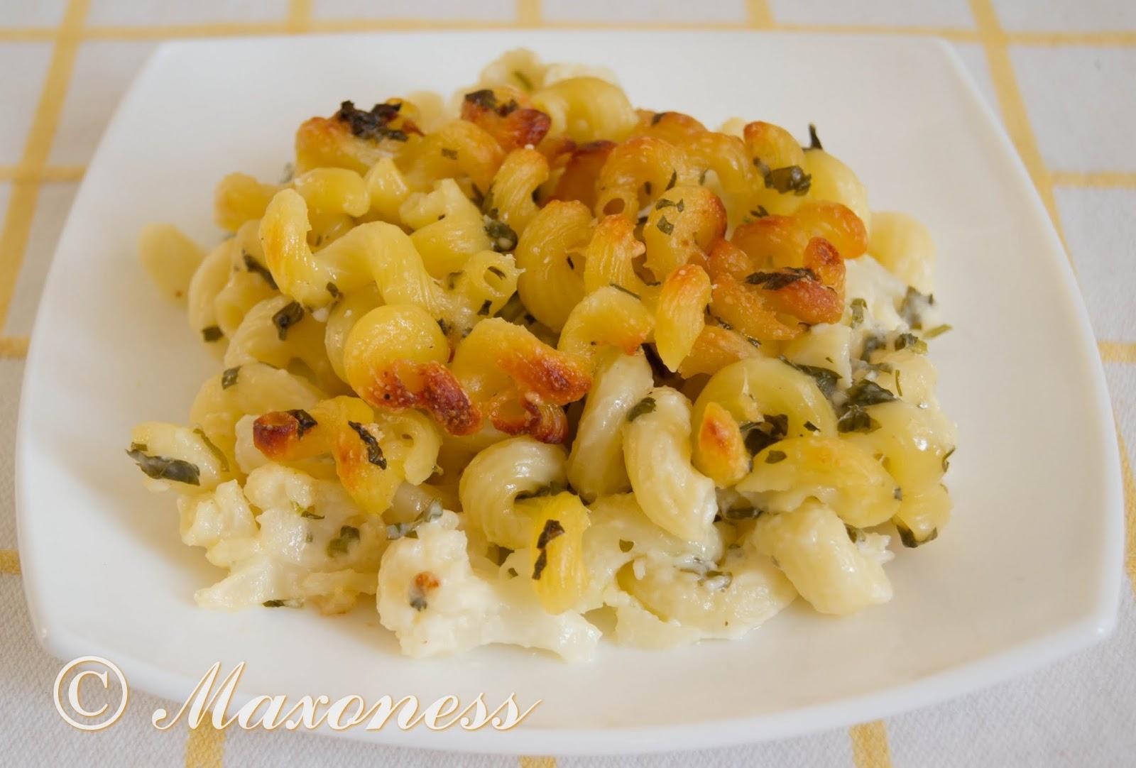 Макароны, запеченные с сыром и цветной капустой, от Джейми Оливера