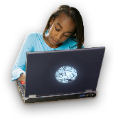 African-American Student with Laptop by Discovery Education