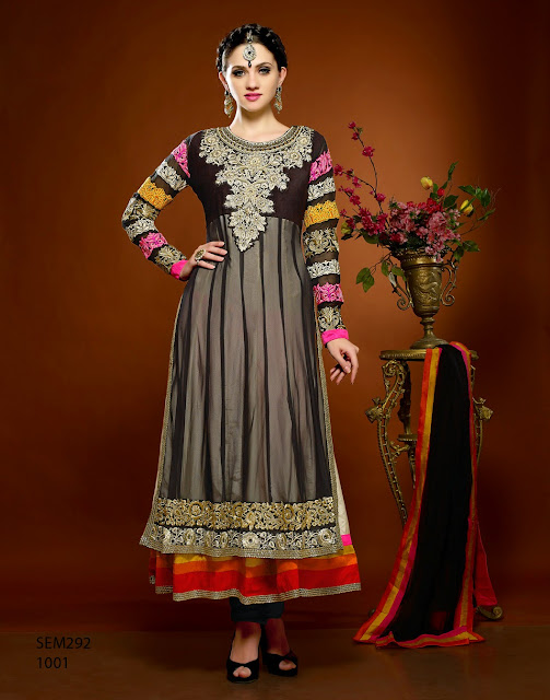New Designer Stylish Embroidered ankle Length Anarkali Suit