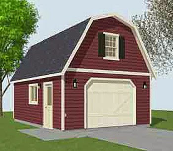 Gambrel Roof Garage Plans on carriage house plans