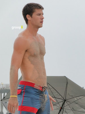 Christopher Underwood Shirtless at Hermosa Beach Open in 2011