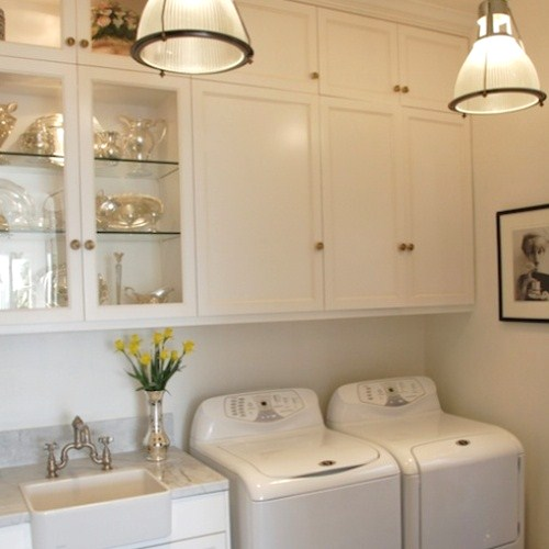 Classic Chic Home: Light and Lovely Laundry Rooms