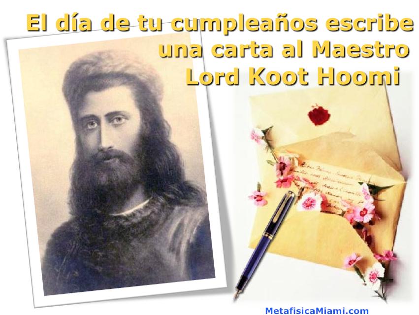 Cumpleaños: escribe tu carta a Koot Hoomi