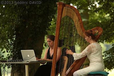 spectacle insolite concert harpe isabelle olivier Chamarande