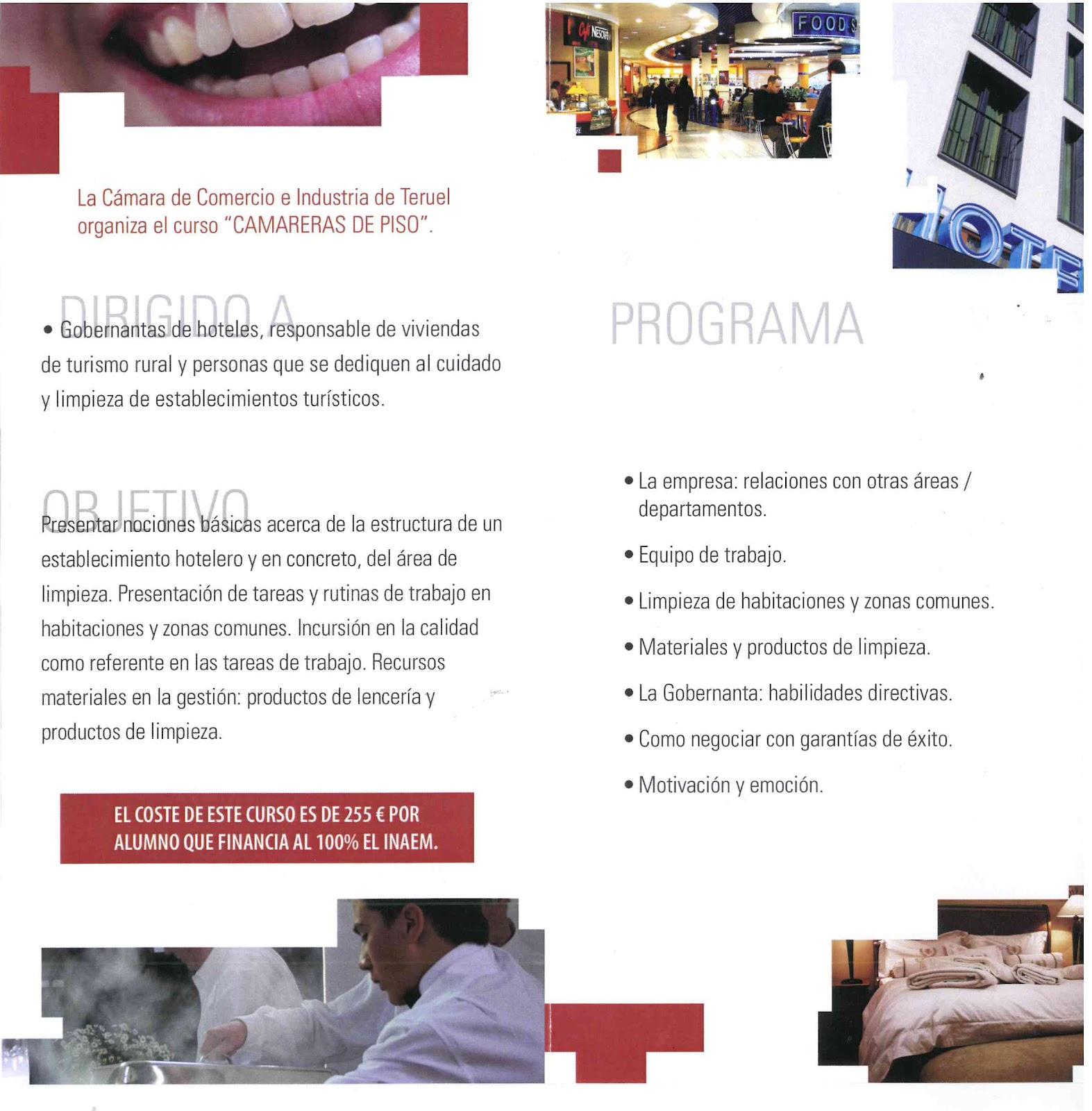 Curso de camarera de pisos en cantavieja - Camarera de pisos curso gratuito ...
