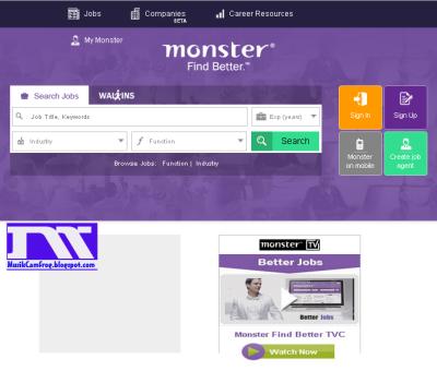 situs penyedia lowongan pekerjaan monster.com