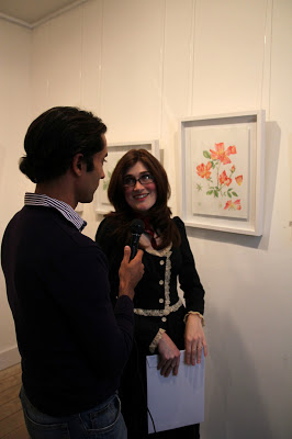 Interviewing Inky Leaves at the Espacio Gallery