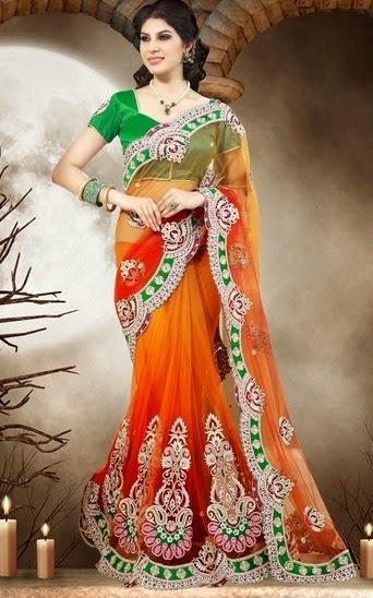 Designer Lehenga Sarees Online