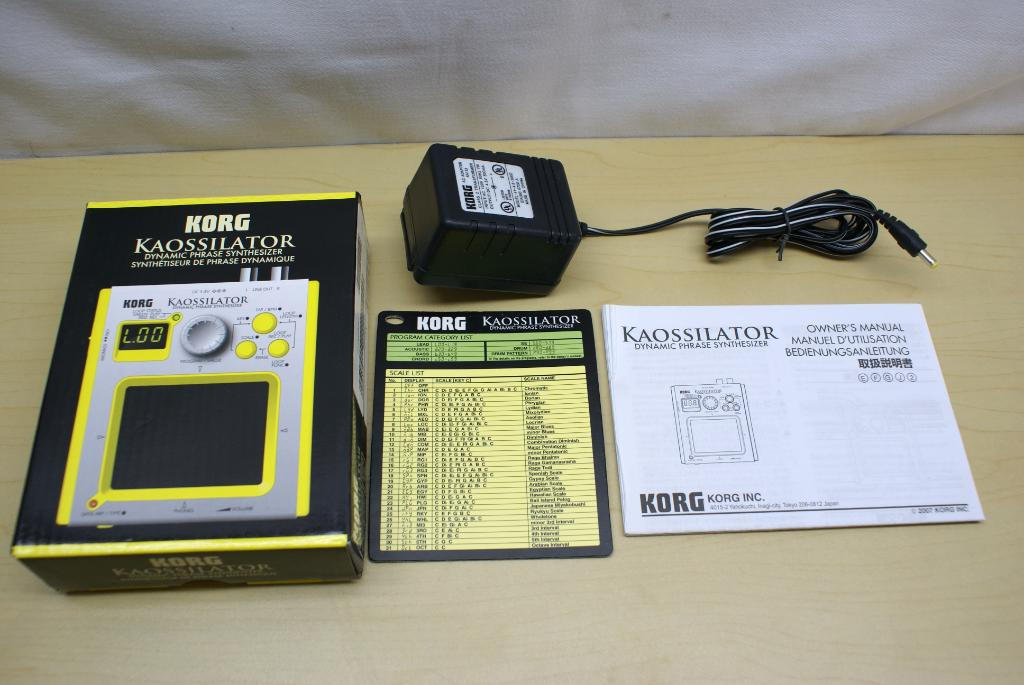 korg kaossilator ko 1 manual