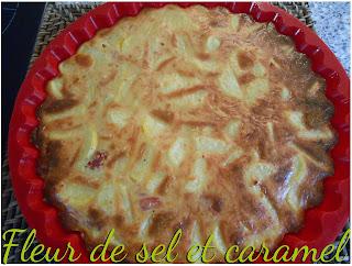 Gâteau salé jambon et pommes de terre