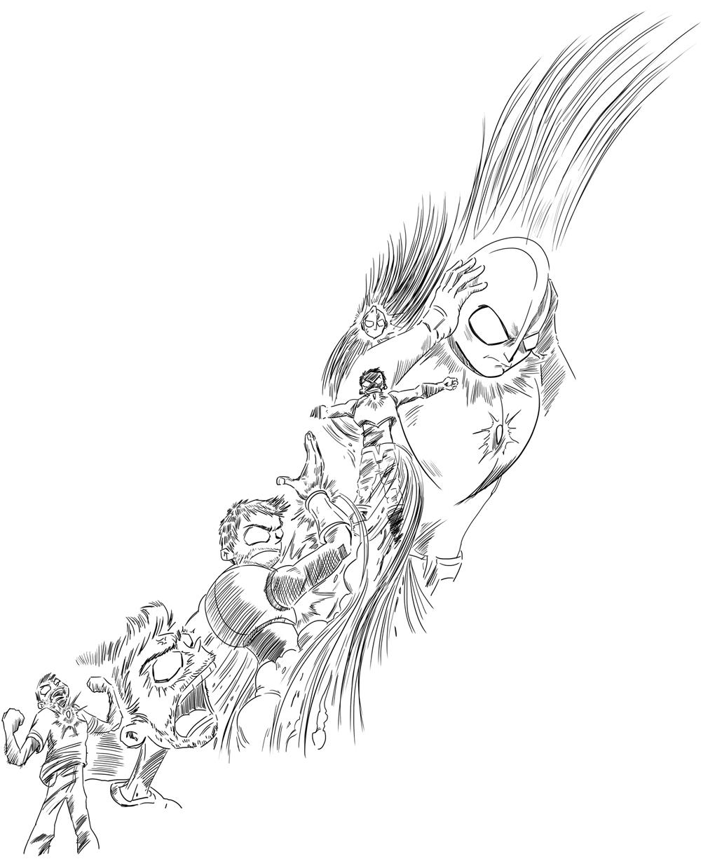 Illustration Sketch Ultraman