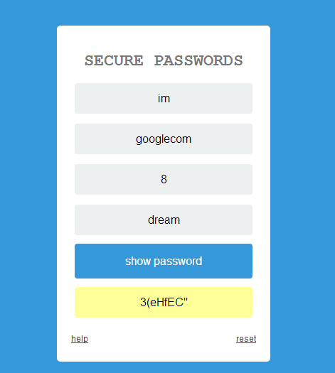 secure password generator.