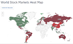 CNBC.com Heat Map of World Markets