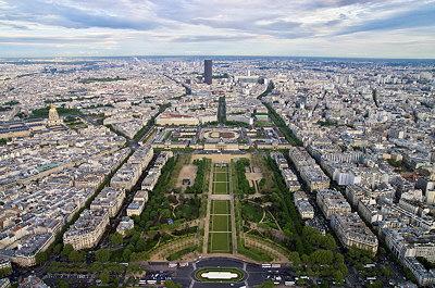 Paris, Champ de Mars and Montparnasse tower