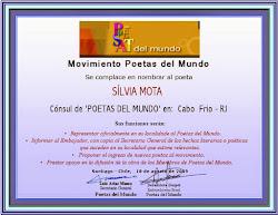 Cônsul dos Poetas Del Mundo para Cabo Frio 2009-2010