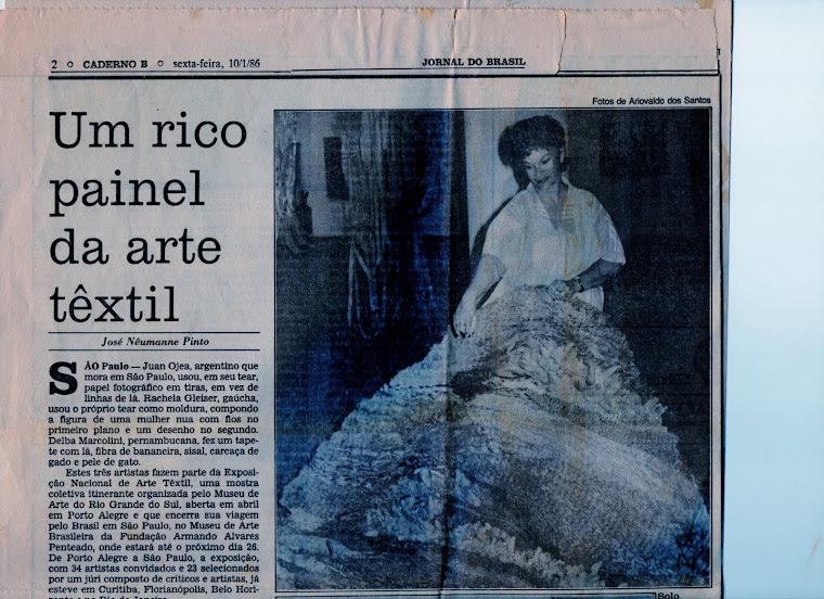 Artigo: NÊUMANE PINTO, José. Um rico painel da arte têxtil-Evento Têxtil/ 85, FAAP, S Paulo, 1986.