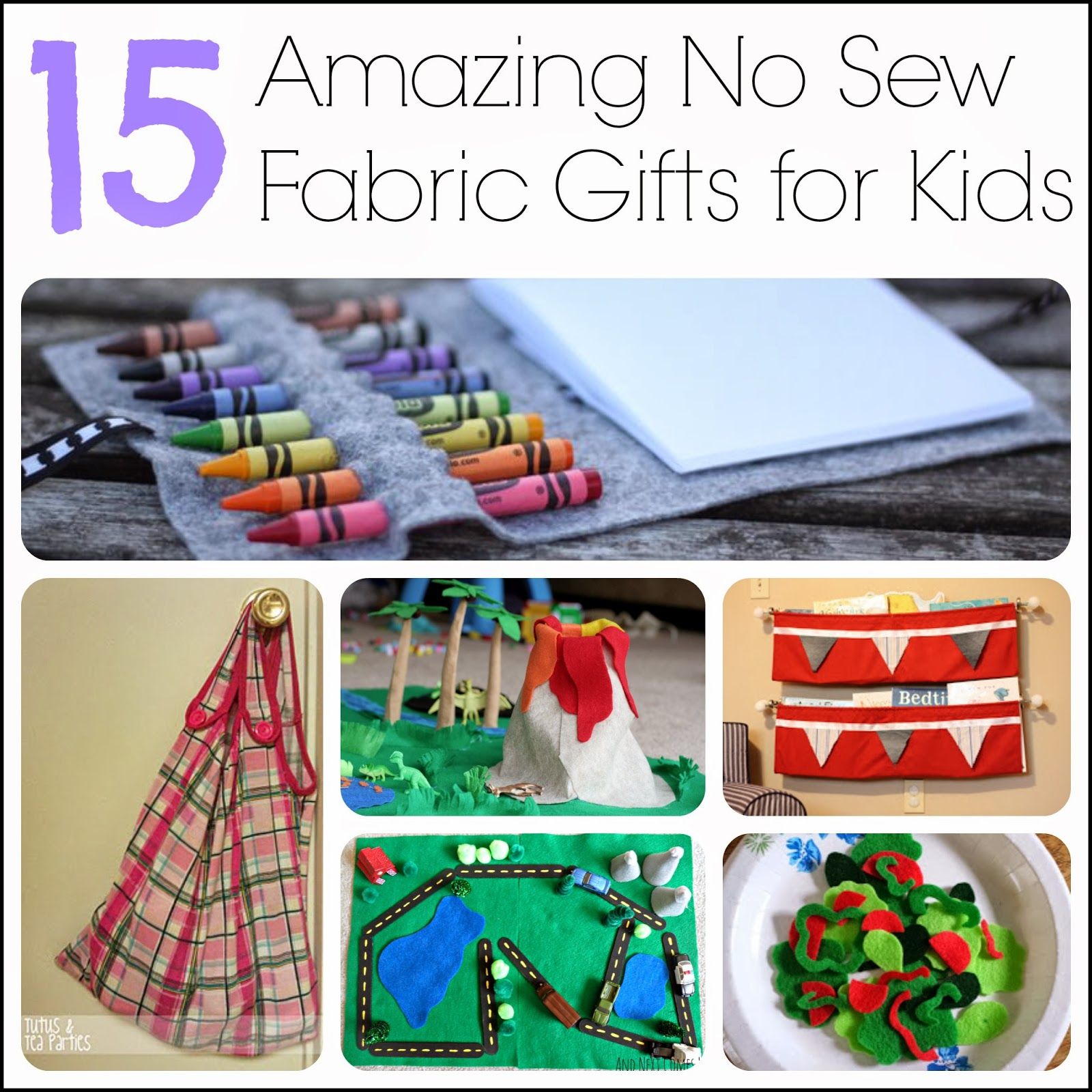 Fabric Craft Ideas For Kids Part - 16: 15 Amazing No Sew Fabric Gifts For Kids, Including Play Food, Bags, Play