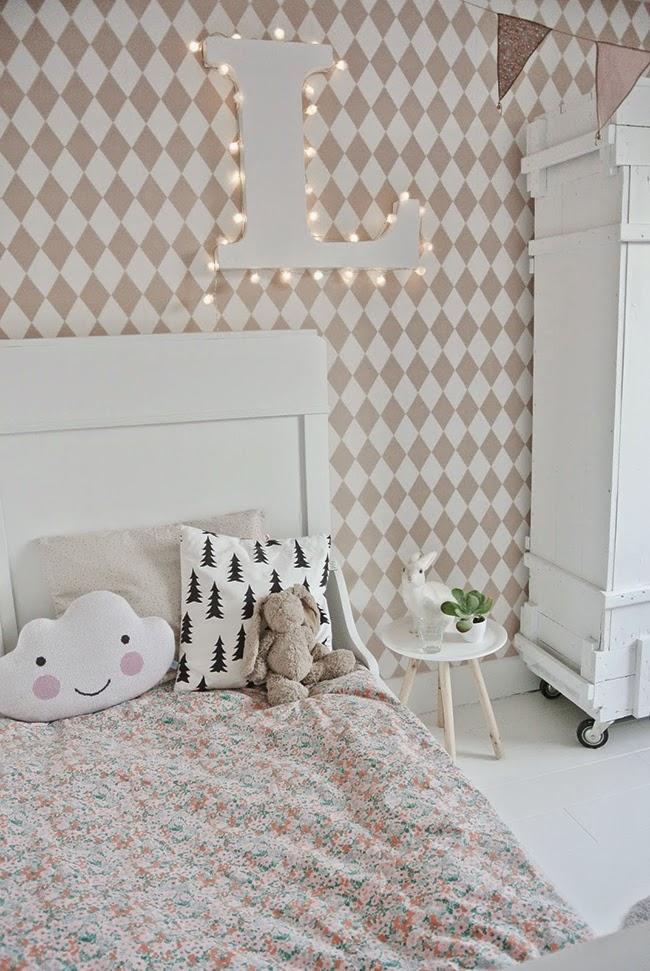 2 habitaciones 1 color rosa pastel boho deco chic