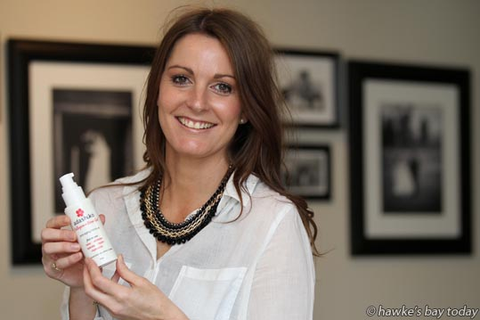 Luci Firth, owner of Adashiko, Napier, seller of Collagen health products for internal and external use. photograph