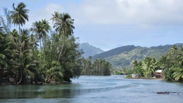 Le Nord de l'île de Huahine