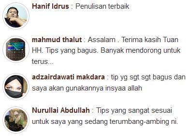 Komen pembaca blog Ohblogger Blogspot Malaysia