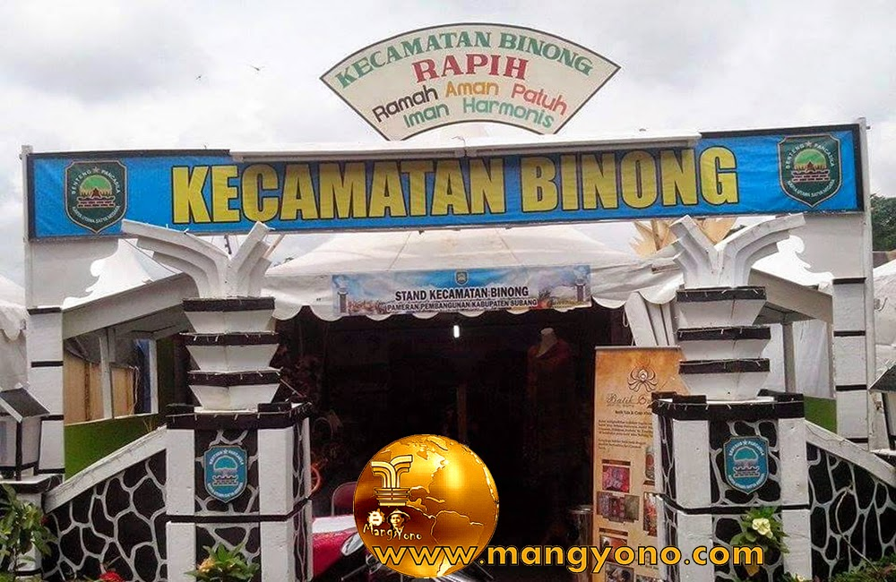 Stand Kec. Binong, Pameran Pembangunan Kab. Subang 2015.