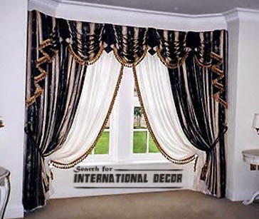 bay window curtains,bedroom curtains,window treatments,bedroom curtain ideas