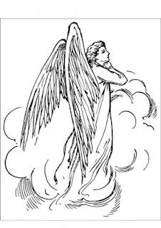 Anjos – Desenhos para Colorir