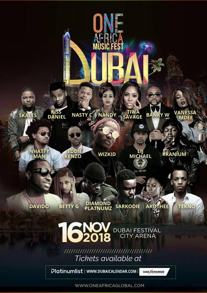 WIN TICKETS To Global Comedy Fest & #OneAfricaMusicFest, DUBAI.