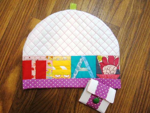 Zakka Along 2.0 Patchwork, Please Lettered Tea Cozy & Pouch
