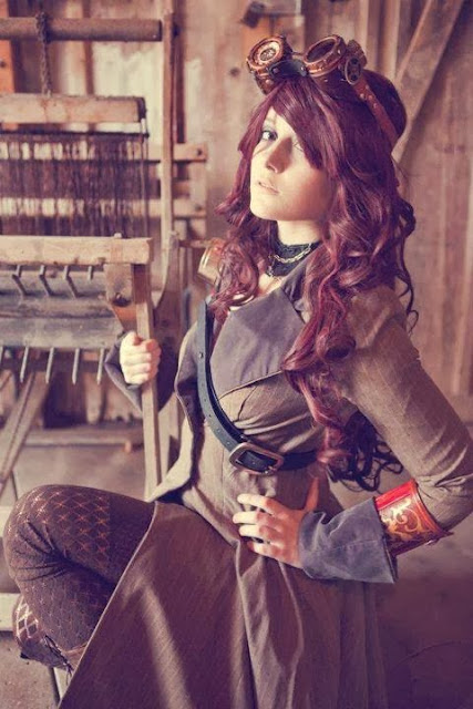 jacket coat steampunk bracers goggles costume