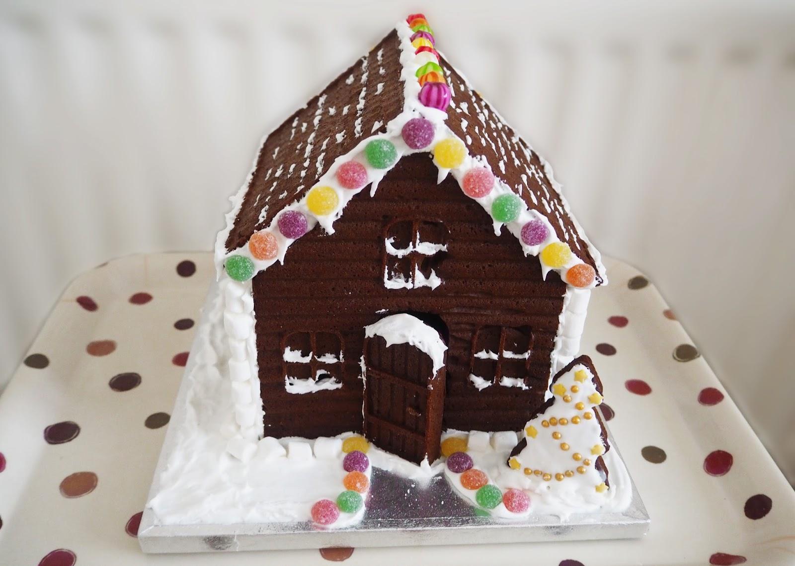 Homemade Gingerbread House | Katie Kirk Loves