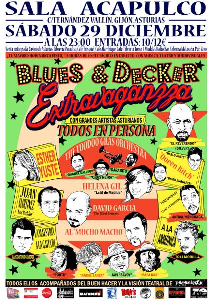 Cartel Extravaganzza 2012 Low Res 1 - EN ASTURIAS: Blues & Decker - Extravaganzza