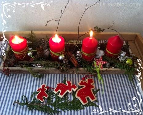 Adventstablett - die drittte Kerze brennt!