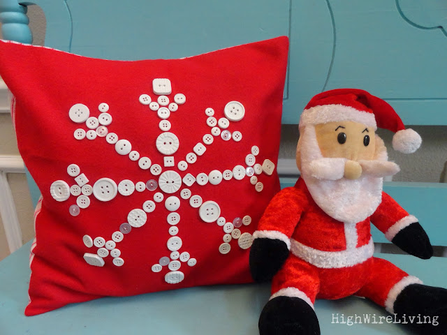 Button Snowflake Pillow {High Wire Living}