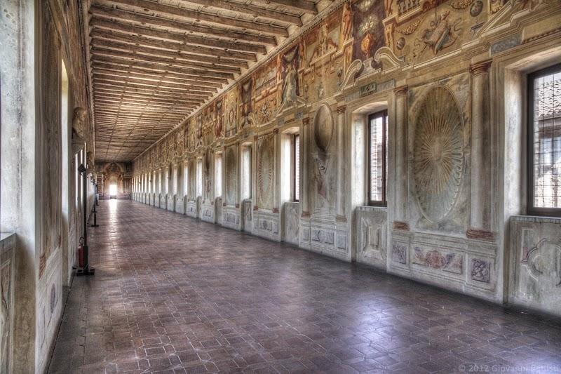 Fotografia della Galleria degli Antichi a Sabbioneta