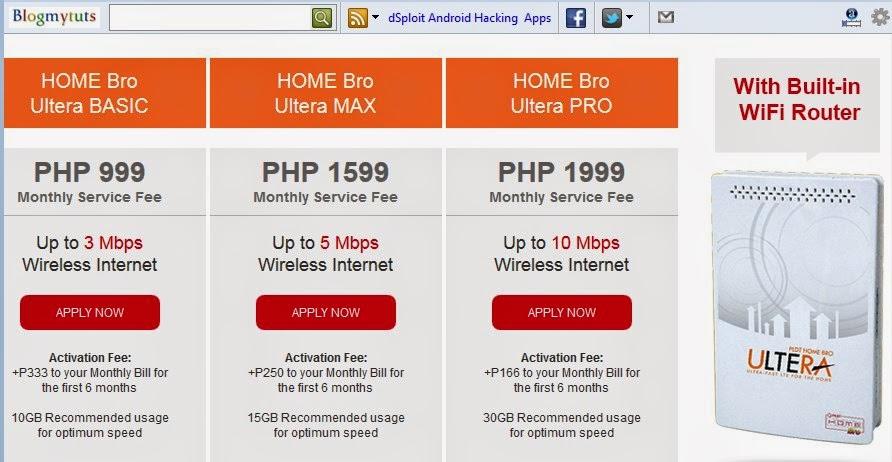 PLDT Home Bro LTE Ultera Plan up to 10 Mbps blogmytuts