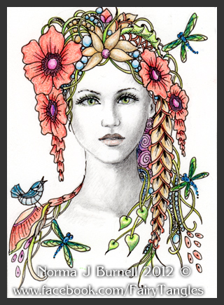 Fairy Tangles Some New ACEO Fairy Tangle Ladies