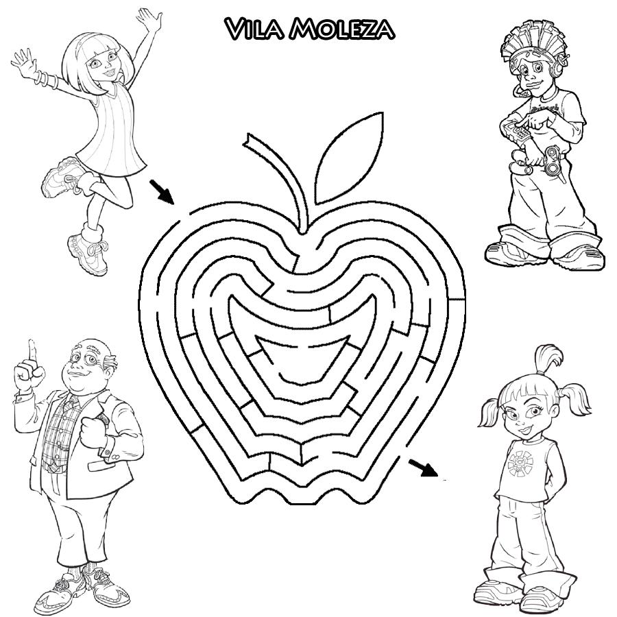 Desenhos Para Colori labirintos da turma da monica e outros desenhar