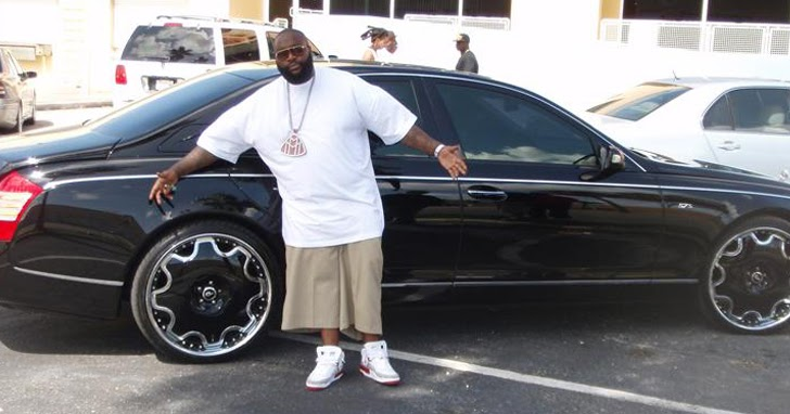 Rick Ross Maybach Celebrities Cars