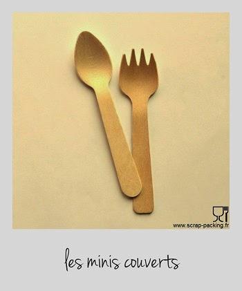 Minis couverts en bois fourchette ou cuillère