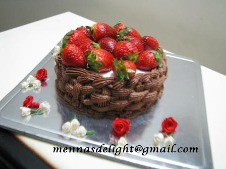 full view of basket weave pattern cake basket cake picture from the