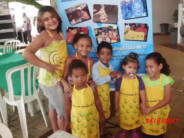 Crianças do Paz na Ponta do GIz em Santos
