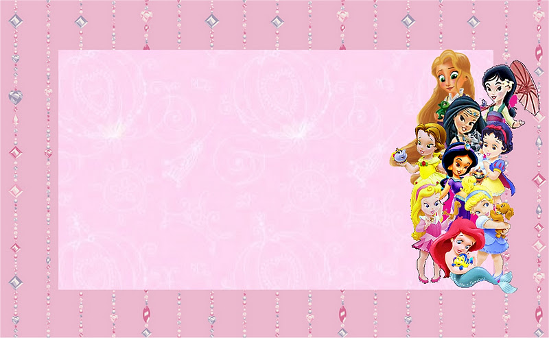 disney princess babies  free printable party invitations