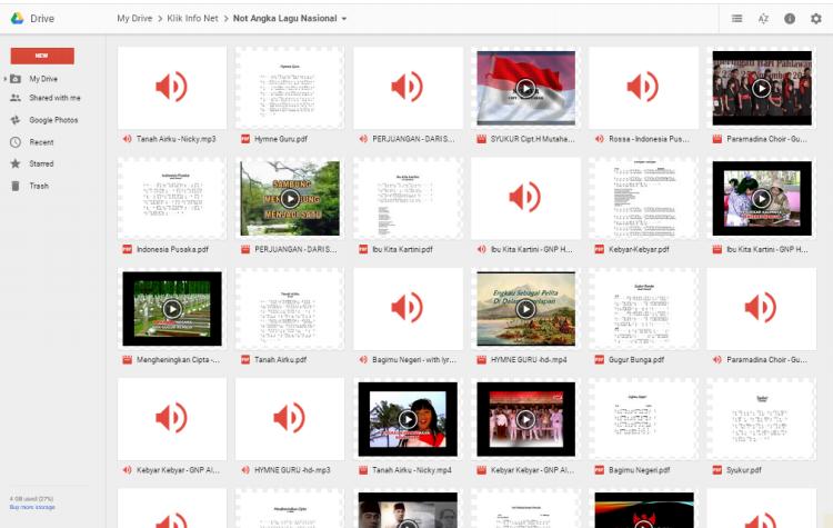 Download Lagu Nasional di Google Drive