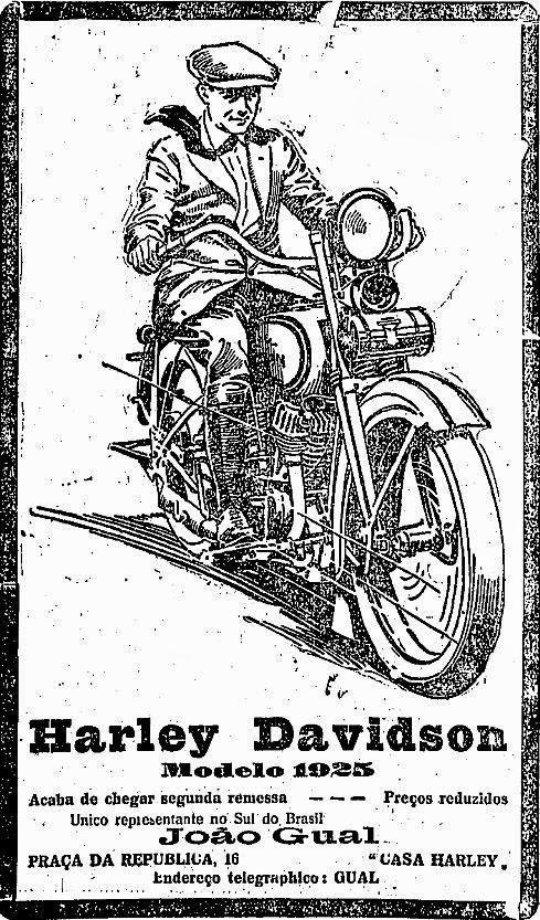 Propaganda da Harley Davidson em 1925.