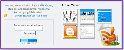 Cara Membuat Kotak Feedburner dan Related Post